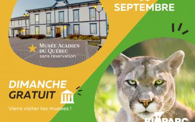 5 septembre · Visite gratuite du Musée et du Bioparc